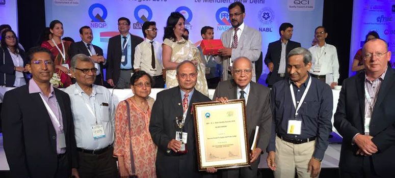 Dr. Vora and his team at American Society for Quality (ASQ) India accepting the Dr. Vora and his team at American Society for Quality (ASQ) India were recently honored with a D. L. Shah Silver Quality Award